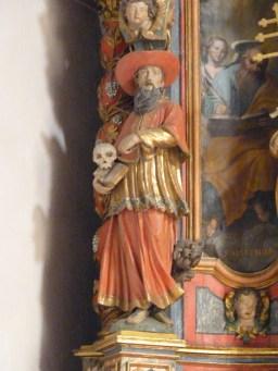 Hauteville-Gondon, retable majeur : saint Jérôme