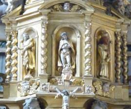 Peisey-Nancroix, église de la Trinité : retable majeur, détail : Ecce homo.