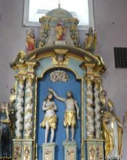 Peisey-Nancroix, église de la Trinité : retable de Saint Jean-Baptiste