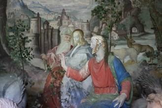 Sacro Monte de Varallo : Jésus est tenté par le diable au désert.