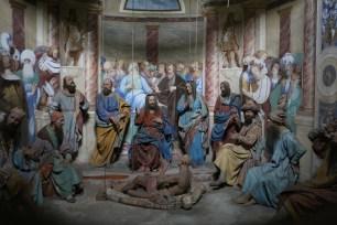 Sacro Monte de Varallo : Jésus guérit le paralytique.