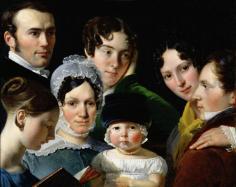 Famille Dubufe, 1820, par Claude-Marie Dubufe (1790-1864)