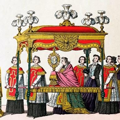 Procession de la fête-Dieu - Imagerie d'Epinal, XIXème s