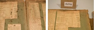 Before and after images of vacuuming