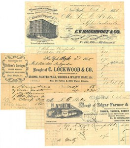 Receipts from the Porter Family Papers
