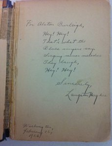 """Langston Hughes' first collection of poetry, """"The Weary Blues,"""" published by Knopf in 1926."""
