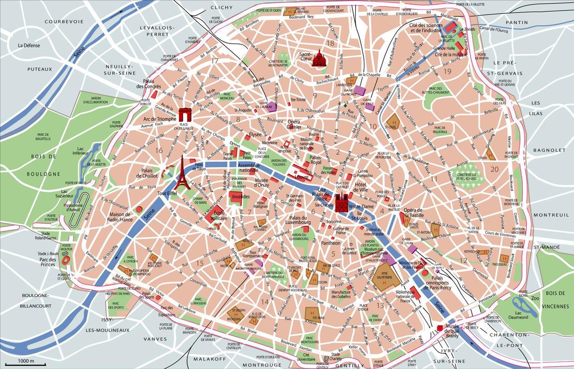 map of paris with landmarks emphasized taken from httpparismap360com paris tourist mapwt241ktllsu