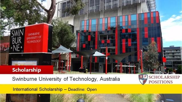 Swinburne University International Postgraduate Research Award in Australia, 2019 - Scholarship Positions 2020 2021