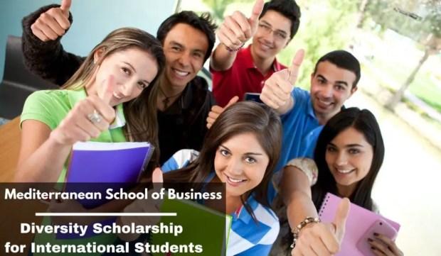 Mediterranean School of Business Diversity funding for International Students