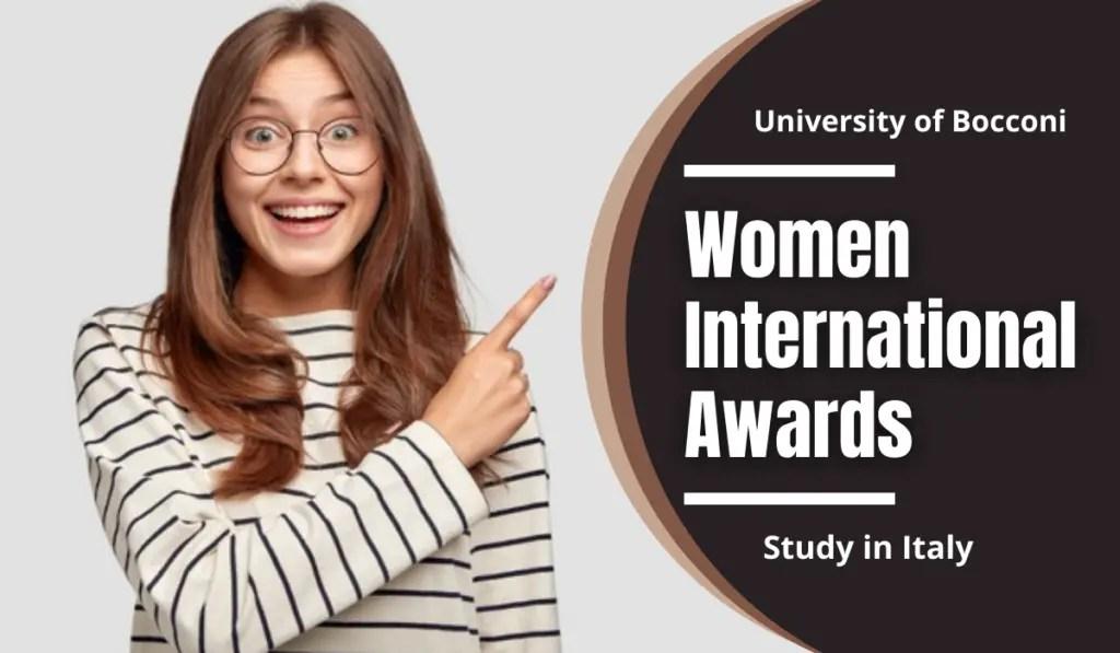 Women International Awards at University of Bocconi, Italy