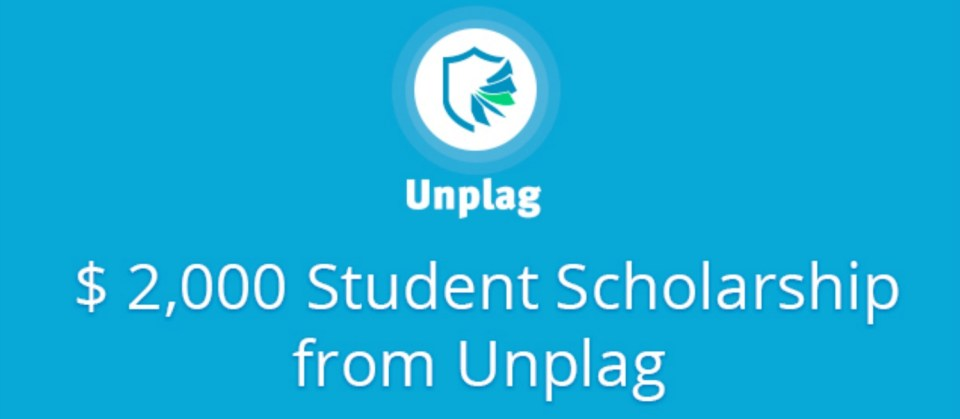 banner for the unplag scholarship