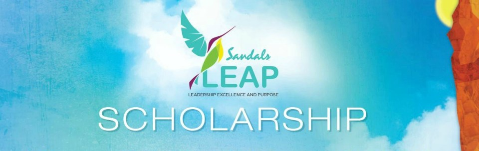 Sandals LEAP Scholarship 2016 banner