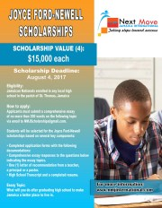 Apply for the Joyce Ford Newell Scholarships