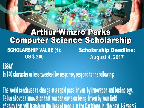 rthur Winzro Parks Computer Science Scholarship