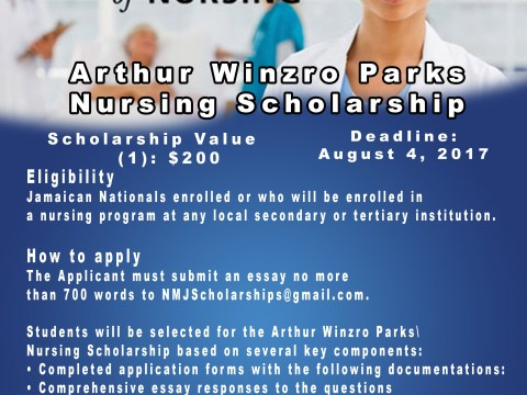 Arthur Winzro Parks Nursing Scholarship