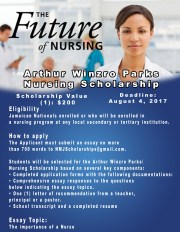 Apply for the Arthur Winzro Parks Nursing Scholarship