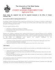 Student Academic Enrichment Fund