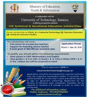 Ministry of Education, Youth and Information Teachers Scholarships