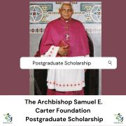 The Archbishop Samuel E. Carter Foundation  Postgraduate Scholarship