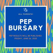 Online 2020 PEP Results and PEP Bursary Sources