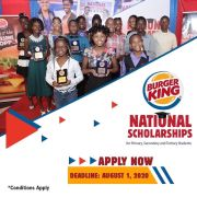 Burger King National Scholarships for Primary, Secondary & Tertiary Students