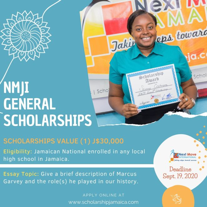 Apply for the Next Move Jamaica International (NMJI) General Scholarships for enrolled high school or community college students in Jamaica.