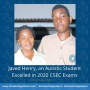 Javed Henry, an Autistic Student Excelled in 2020 CSEC Exams