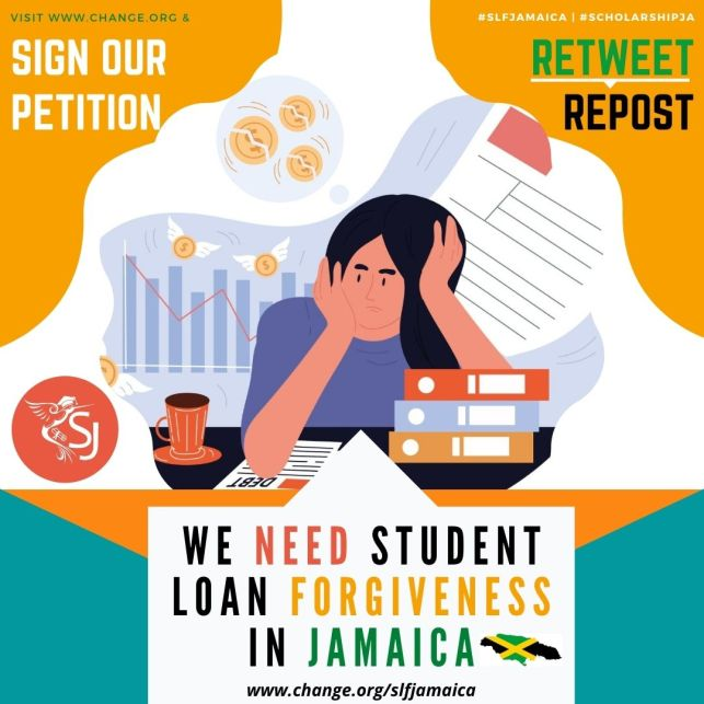 Join us in supporting a REAL ACTIONABLE economic stimulus and jobs plan - demand for a STUDENT LOAN FORGIVENESS PROGRAMME IN JAMAICA!