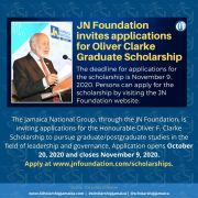 JN Foundation Invites Applications For Oliver Clarke Graduate Scholarship