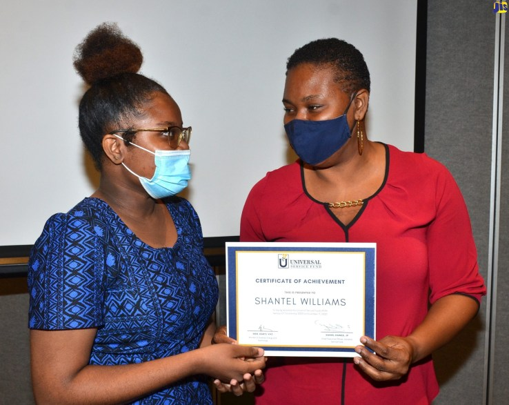 Shantel Williams, an aspiring ICT teacher, is the first recipient of the inaugural Programme of Advancement Through Health and Education (PATH) Tertiary ICT Scholarship.
