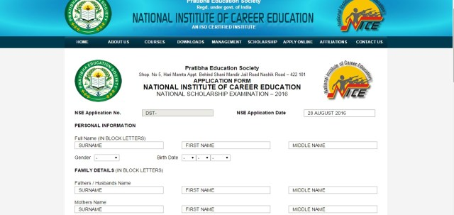 National Scholarship Exam a prestigious exam held at all india level to identify hidden talents among students in all streams from class 5 to graduation and to provide financial assistance to needy students.