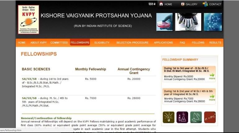 kishore vaigyanik protsahan yojana