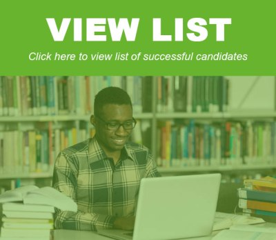 List of Successful Candidates For The 2016/2017 National Merit Scholarship Award