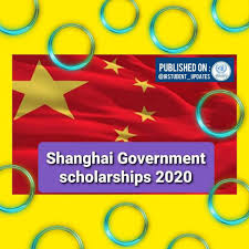 SHANGHAI GOVERNMENT SCHOLARSHIP FOR UNDERGRADUATE, MASTER'S AND PHD, 2020