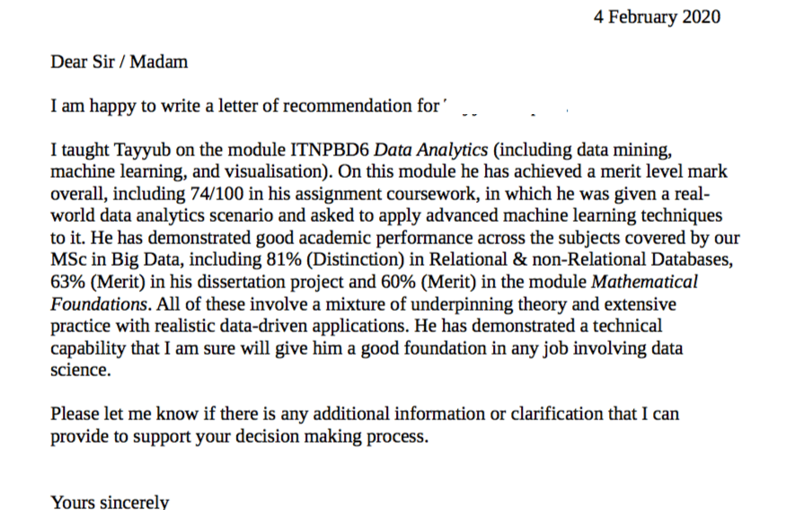 No need to start from scratch. Letter Of Recommendation Sample 2021 Recommendation Letter 2021