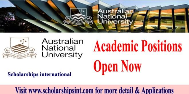 Australian National University Positions