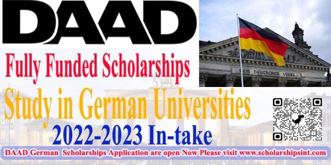 DAAD German Scholarships 2022-2023
