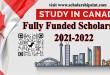 Study in Canada 2021-2022