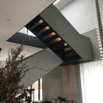 Pulverlakeret design trappe