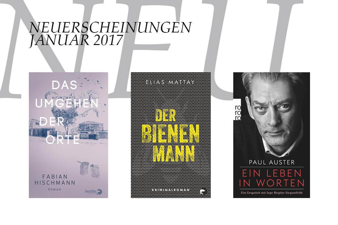 Buch Neuerscheinungen im Januar 2017 - Suchtipps auf Schonhalbelf, dem Buchblog
