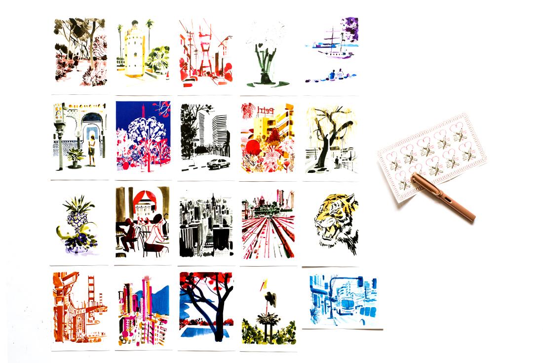 christoph-niemann-souvenir-20-postkarten-schonhalbelf-tipp-empfehlungen-uebersicht-sammlung-postkartenbuch-diogenes