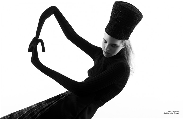 Dress / M. Missoni Headpiece / Ainur Turisbek