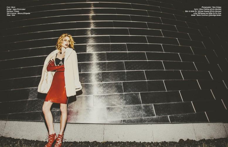Coat / Music Bustier / Agent Provocateur  Necklace / Chanel Skirt & gloves / House of Etiquette  Shoes / Aldo