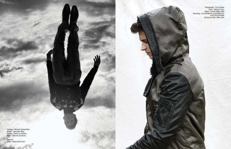 Cardigan / Moncler Gamme Bleu  Jumper / Alexander Wang  Trousers / Dolce & Gabbana  Shoes / Christian Louboutin Opposite Jacket / Diesel Black Gold