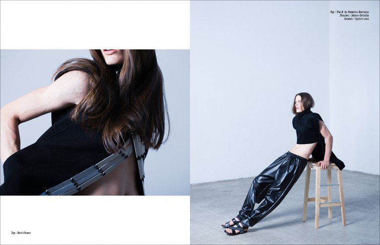 Top / Rick Owens Opposite Top / The B. by Federico Barrazzo Trousers / Marco Grisolia
