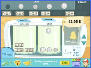The Money maths game