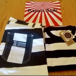 bandana-japonais-pantalon-rayé-pull-rayures-prisonnier