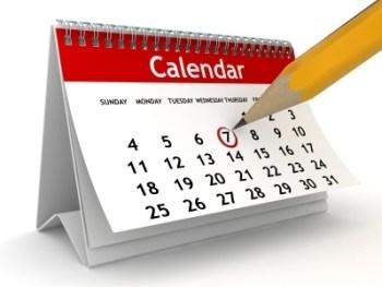 Calendar Change for October 22nd