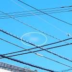 連続16日目のクラウドシップ(雲形UFO)は、雲一つない晴天でも現われてくれました