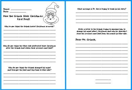 Christmas Language Worksheets #3